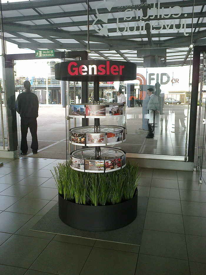 gensler three-dimensional interactive display stand thumbnail